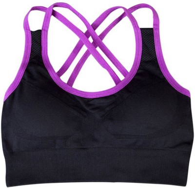 DealSeven Fashion Women's Full Coverage Black Bra at flipkart