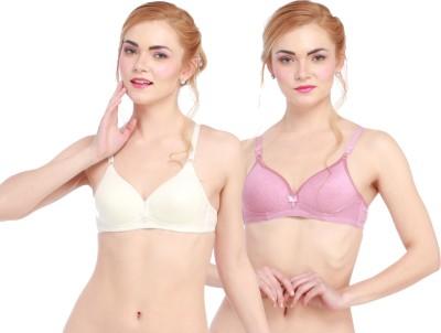 Glus LadyLove Women's Push-up White, Pink Bra