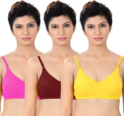 S4S Stylish Women's Full Coverage Pink, Maroon, Yellow Bra