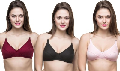 Docare Trendy Women's Full Coverage Black, Maroon, Pink Bra