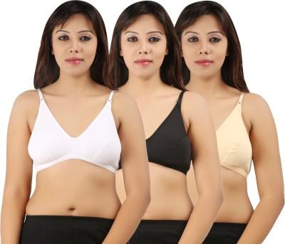 Extreme Women's Full Coverage White, Black, Beige Bra