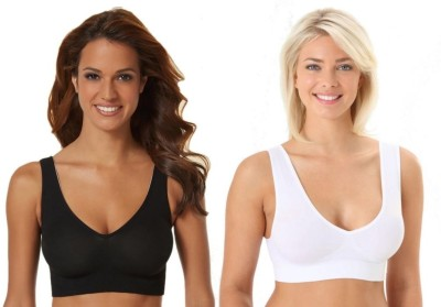 Phalin Fashion Women's Sports Black, White Bra at flipkart