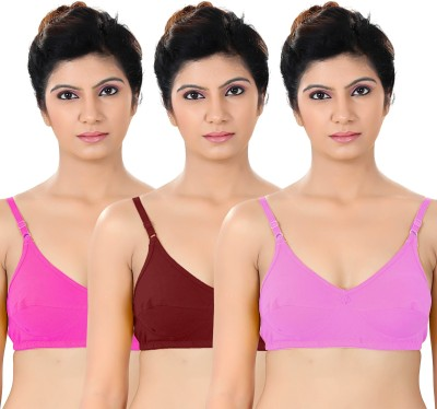 S4S Stylish Women's Full Coverage Pink, Maroon, Pink Bra