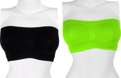 Our Rituals CDBG7 Women's Tube Black, Green Bra