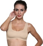 La Verite Pro Women's Sports Beige Bra