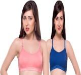 Lenity Pro Women's Sports Blue, Pink Bra
