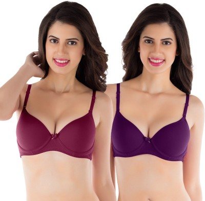 Tweens by Belle Lingeries - Padded Underwire Women's T-Shirt Maroon Bra