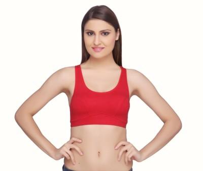 La Zoya by Intimodo Women's Sports Red Bra