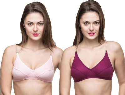Docare Trendy Women's Full Coverage Pink, Purple Bra