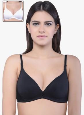 Shoba WBT38 Women's T-Shirt Black, White Bra