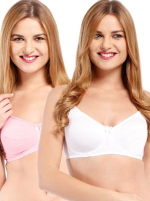 Beyouty Pam Women's Full Coverage White, Pink Bra at flipkart