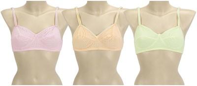 s.s enterprises Women's Bralette Pink, Yellow Bra