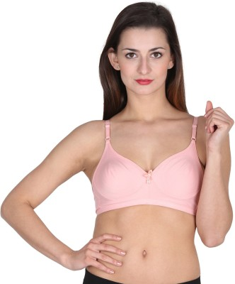 Girls Look Fashion Women's Full Coverage Pink Bra