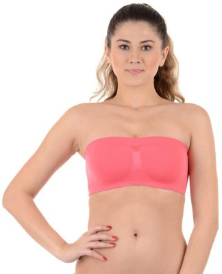 Kat Wears Fashion Women's Tube Pink Bra