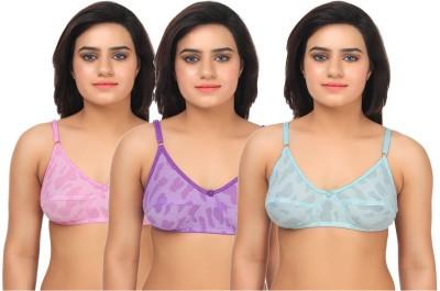 Gujarish Fashionable Women's Full Coverage Multicolor Bra