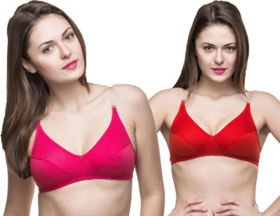 Docare Trendy Women's Full Coverage Pink, Red Bra