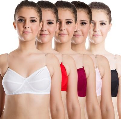 Beauty Aid Premium Women's Full Coverage White, Red, Maroon, Pink, Black Bra at flipkart