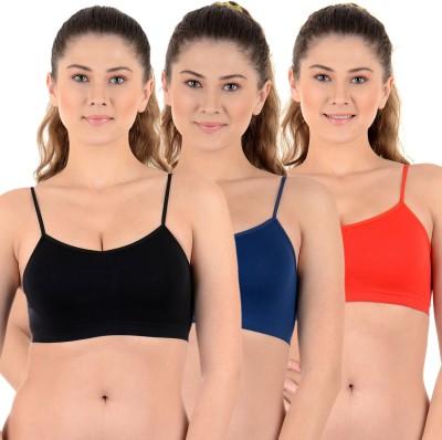 Mynte Premium Women's Sports Black, Beige, Pink Bra