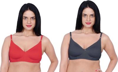 Aloft Dainas Women's Full Coverage Red, Black Bra