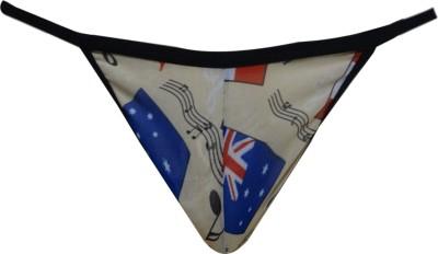 Laceandme Men's Cool Flag Print Gstring Pouch Brief