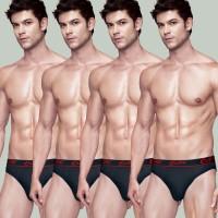 Vests, Briefs, Pyjamas (Men's) - Rupa Men's Euro Brief(Pack of 4)