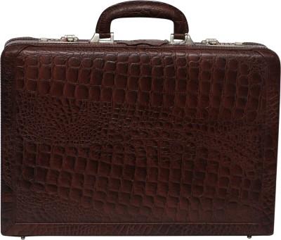 C Comfort EL446 Genuine Leather Expandable Briefcase Office Bag Medium Briefcase - For Men, Boys