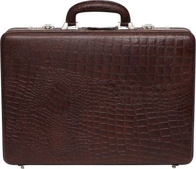 C Comfort EL448 Genuine Leather Expandable Briefcase Office Bag Medium Briefcase - For Men, Boys