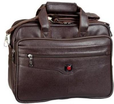 Easies FF 1018 Brown Medium Briefcase - For Men(Brown)