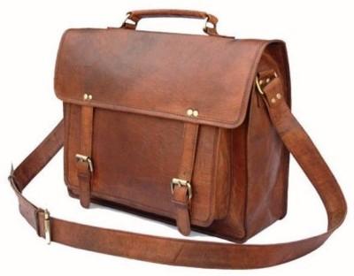 CRAFAT Messenger Bag Medium Briefcase - For Men, Women, Boys(Brown)