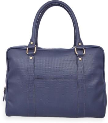 Henry and Smith Men's Dapper Modernistic Medium Briefcase - For Men(Blue)