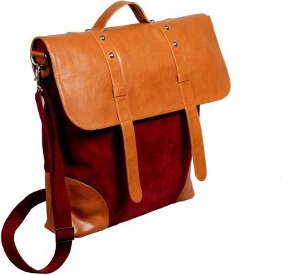 Harp Kansas B01 Medium Briefcase - For Men(Maroon)