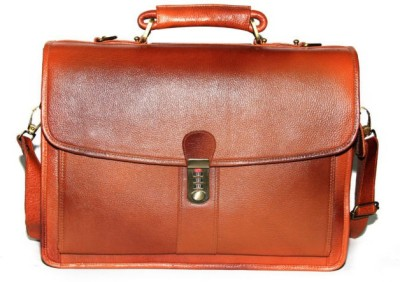 C Comfort EL51 Tan Medium Briefcase - For Boys, Men