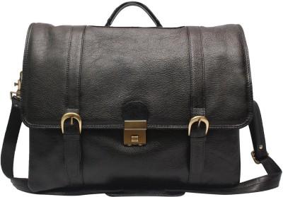 C Comfort EL39 Black Medium Briefcase - For Boys, Men