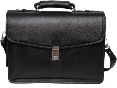 C Comfort EL360 Black Medium Briefcase - For Boys