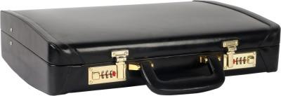 RAMBLER Leather Mini Overnighter Black Medium Briefcase - For Men