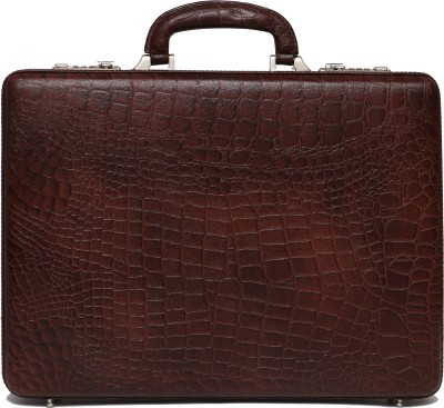C Comfort Genuine Leather Office Bag Small Briefcase - For Men, Boys