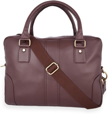 Henry and Smith Men's Time Honored Uptown Medium Briefcase - For Men(Brown)