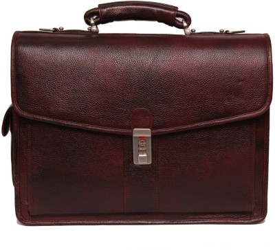 C Comfort Genuine Leather Medium Briefcase - For Men