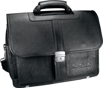Da Tasche LTHR 2 BL Large Briefcase - For Men, Women