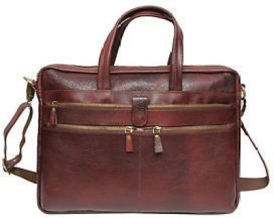 C Comfort BrownEL100 Medium Briefcase - For Men