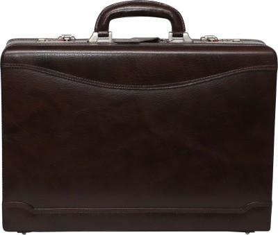 C Comfort EL443 C Comfort Genuine Leather Expandable Briefcase Office Bag Medium Briefcase - For Men, Boys