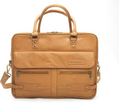 Flairmen TN001 Medium Briefcase - For Men(Tan)