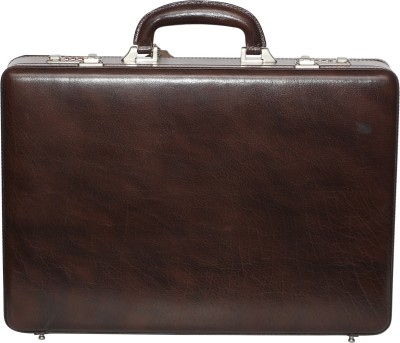 C Comfort Genuine Leather Expandable Office Bag Small Briefcase - For Men, Boys