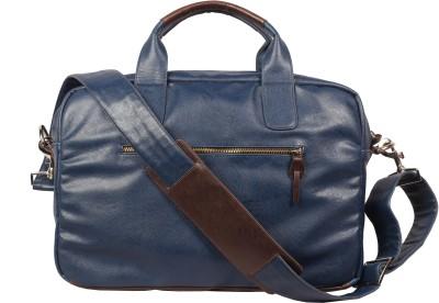 Harp Belfast Portfolio Medium Briefcase - For Men(Blue)