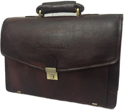 Da Tasche LTHR 1 BR Large Briefcase - For Men, Women