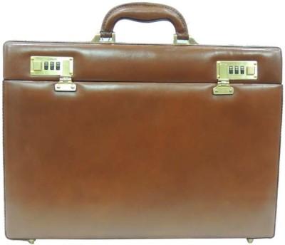 Mex Sleek Medium Briefcase - For Men(Tan)