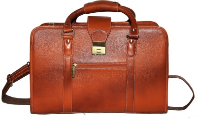C Comfort Genuine Leather Medium Briefcase - For Men