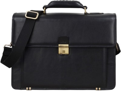 Clubb Hunter Leather Laptop Unisex Messenger Medium Briefcase Medium Briefcase - For Men, Women, Boys, Girls