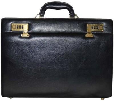 Mex Sleek Medium Briefcase - For Men(Black)