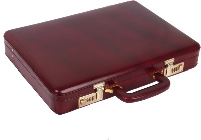 RAMBLER All Side Round leather Medium Briefcase - For Men
